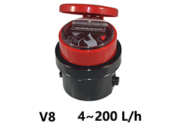 V8 Mechanical flow meter